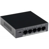 GOLIATH 4-Port PoE Switch + 1-Port Gigabit Uplink, RJ45 10/100Mbps, Max 30W/Port, Gesamtleistung 58W